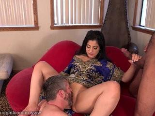 Cum Eating Cuckolds Cuckold observes Nadia Ali go black