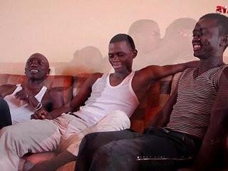 Black African Threesome Sucking joy