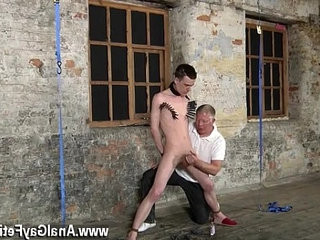 Nude men Sean McKenzie is strapped up and at the mercy of tormentor
