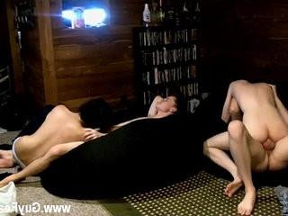 faggot hook-up Trace Van de Kamp and Erik Tribold have a bit of a soiree