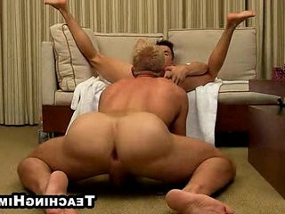 Andy Taylor wanking off while getting his pouch licked