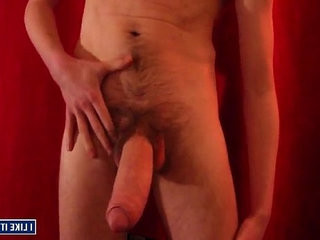 Huge thick white shaft and jizzing
