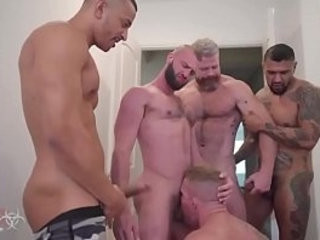 group Bang Dick in nut sack Hard Fuck