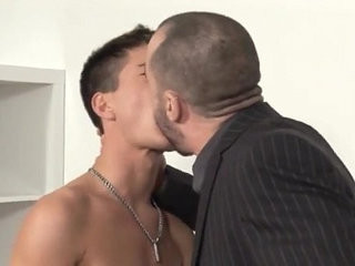 Hunks vs Twink...Dad deep throatranssexual gobbles fucks horny sons best friend